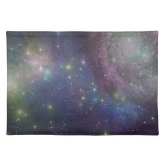 Space, stars, galaxies and nebulas placemats