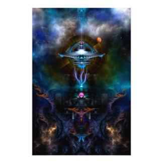 Space Station Ansarious Fractal Art Photo Enlargem