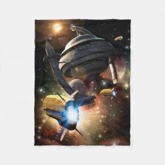 Space Station Fantasy Small Fleece Blanket