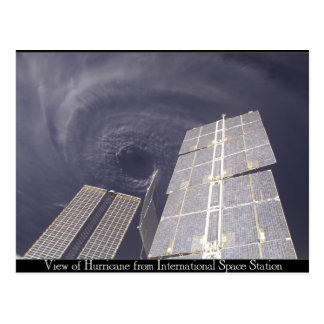 Space Station Hurricane Postcard