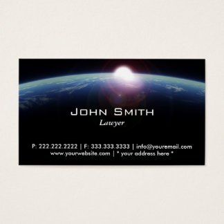 Space Sunrise Lawyer/Attorney Business Card