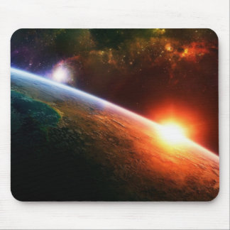 Space Sunrise Mouse Pad