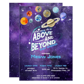 Space Themed Baby Shower Invitation
