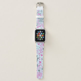 Space Themed Doodles Robot Spaceman Spaceship Apple Watch Band