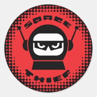 Space Thief Robot Head Sticker