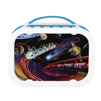 Space Thrills Cosmic Roller Coaster Artist Concept Lunch Box