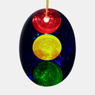 Space Traffic Light Ceramic Ornament