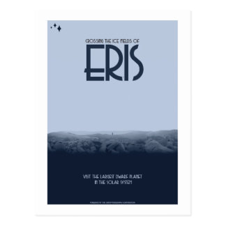 Space Travel Postcard - Eris