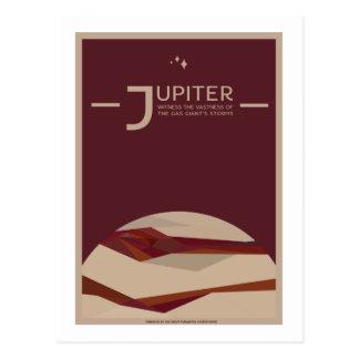 Space Travel Postcard - Jupiter