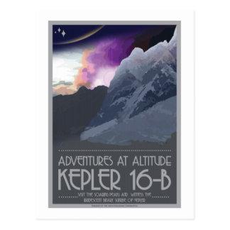 Space Travel Postcard - Kepler 16-b
