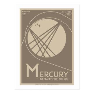 Space Travel Postcard - Mercury