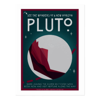 Space Travel Postcard - Pluto