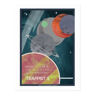 Space Travel Postcard - Trappist 1