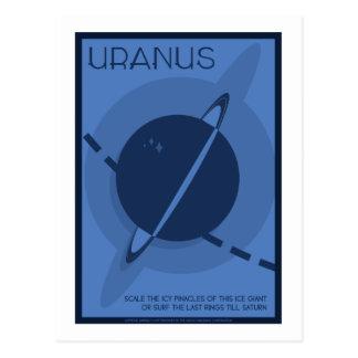 Space Travel Postcard - Uranus