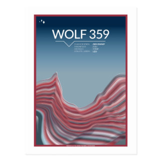 Space Travel Postcard - Wolf 359