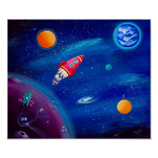 Space Travel | Rocket Print | Outer Space Nursery