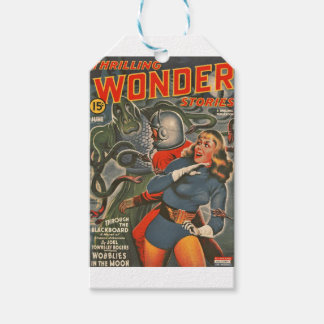 Space Travelers Attacked by Tentacle monster Gift Tags
