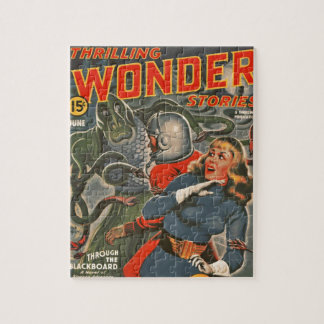 Space Travelers Attacked by Tentacle monster Jigsaw Puzzle