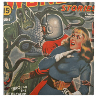 Space Travelers Attacked by Tentacle monster Napkin
