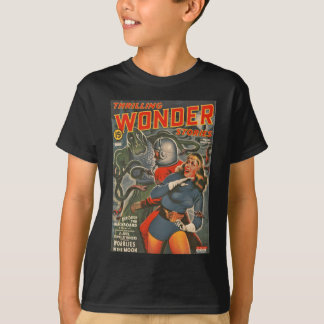 Space Travelers Attacked by Tentacle monster T-Shirt