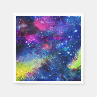 Space traveller spatial galaxy painting napkin