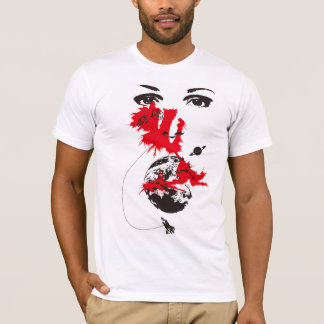 Space travelling and woman T-Shirt