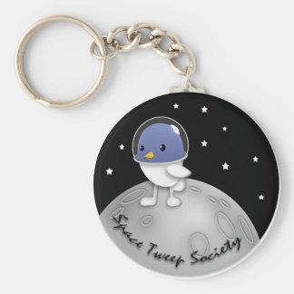 Space Tweep Button Keychain