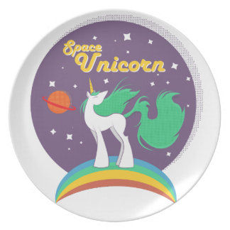 Space Unicorn Plate