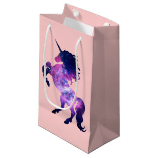 Space unicorn small gift bag