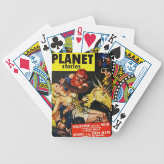 Space Vikings Bicycle Playing Cards