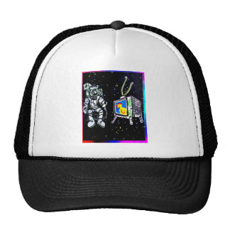 Space watcher trucker hat