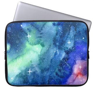 Space Watercolor Art Laptop Case