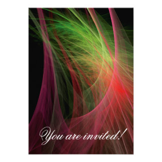 Space Wave Personalized Invitations