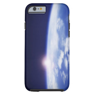 Space with rising sun above planet earth iPhone 6 case