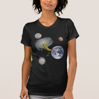 Space Worm Eating Earth T-Shirt