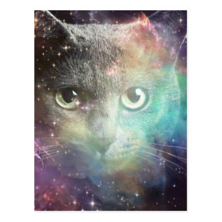 SPACECAT GALAXY CAT POSTCARD