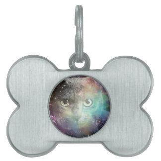 spacecat pet ID tag
