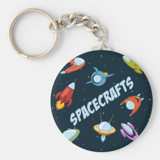 Spacecraft and rockets keychain