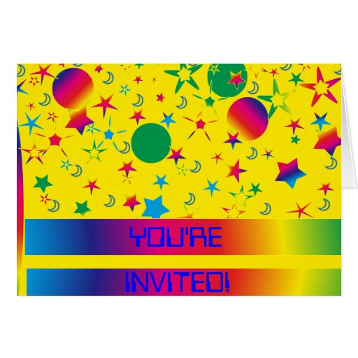 Spaced Out Birthday party Invitation Card