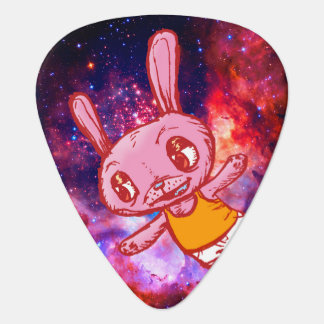Spaced Out Bunny Rabbit Guitar Pick