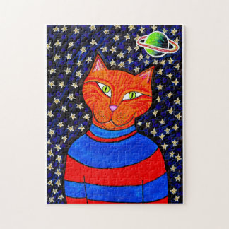 Spaced Out Cat Puzzle