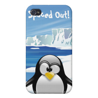 Spaced Out Penguin iPhone 4 Covers