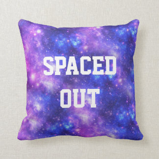 Spaced Out Personalized Galaxy Throw Pillow