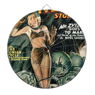 Spacegirl Fights Slime Monsters Dartboard