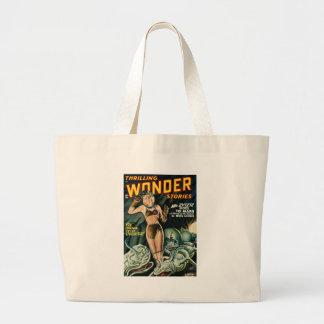 Spacegirl Fights Slime Monsters Large Tote Bag