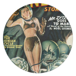 Spacegirl Fights Slime Monsters Plate