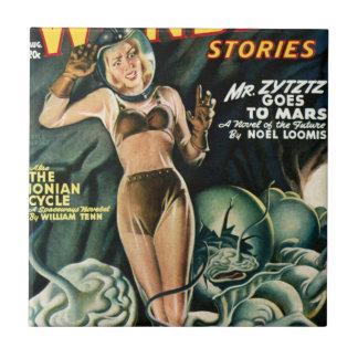 Spacegirl Fights Slime Monsters Tile