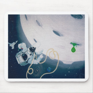 Spaceman and Moon Mouse Pad
