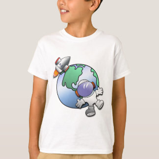 Spaceman and Planet Earth T-Shirt
