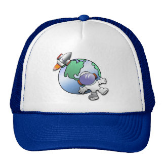 Spaceman and Planet Earth Trucker Hat